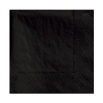 2 Ply Beverage Napkin Black - 9.5 in. x 9.5 in.