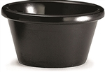 Black Melamine Plain Ramekin - 3 Oz.