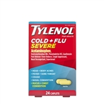 Tylenol Cold and Flu Severe Caplets 48 Boxes of 24 Tablets