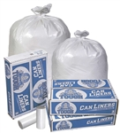 White Star Perforated Roll Can Liner - 60 Gal.
