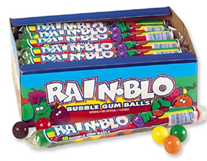 Rain-Blo Gum Ball Tube - 1.70 oz.