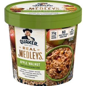 Real Medley Oatmeal Apple Walnut - 2.64 Oz.