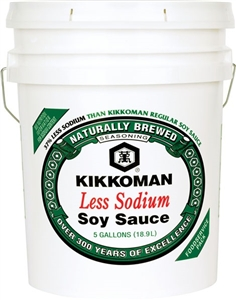 Soy Sauce Less Sodium - 5 Gal.