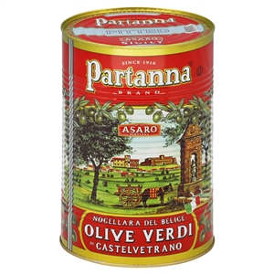 Partanna Green Castelvetrano Pitted Olives In Brine - 2.23 kg.