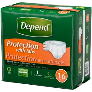 Depend Fitted Briefs Maximum Absorbency Large and X-Large