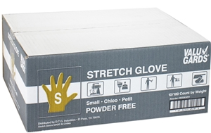 ValuGards Stretch Poly Disposable Gloves Small Clear