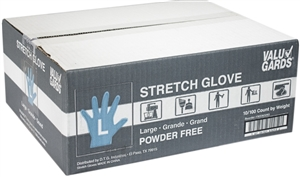 Valugards Stretch Poly Disposable Clear Gloves - Large