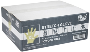 Valugards Stretch Poly Disposable Clear Gloves - X-Large