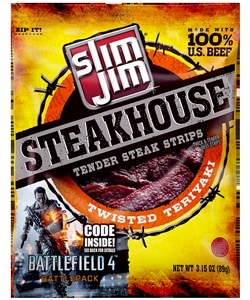 Slim Jim Twisted Teriyaki Steakhouse - 3.15 Oz.