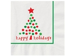 Holiday Dots Recycled Beverage Napkin - 10 in. x 10 in.