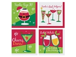 Santas Helpers Beverage Napkin - 10 in. x 10 in.