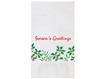 Holiday Holly Dinner Napkin - 15 in. x 17 in.