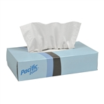 White Flat Box Facial Tissue