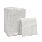 White 1 Ply Beverage Napkin - 9.5 in. x 9.5 in.