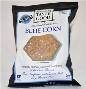 Food Should Taste Good Tortilla Blue Corn Chips - 1.5 oz.