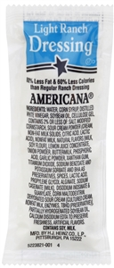 Americana Dressing Light Ranch - 12 g.