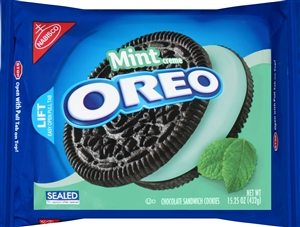 Nabisco Oreo Sandwich Cookies Chocolate Mint - 15.25 Oz.