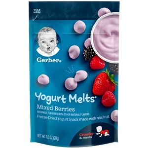 Gerber Graduates Yogurt Melts Graduate Snacks Mixed Berry Flavors - 1 Oz.