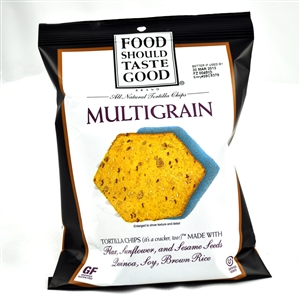 Food Should Taste Good Tortilla Multigrain Chips Peggable Bag - 9 oz.