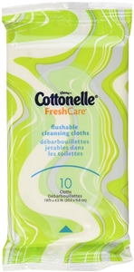Cottonelle Fresh Care Flushable Cleansing Cloths On-The-Go Softpack 10