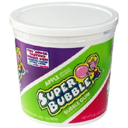 Super Bubble Gum 3 Flavors Bucket - 54 oz.