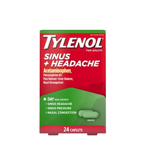 Tylenol Sinus Congestion Relief Cool Burst Caplets 48 Boxes of 24 Caplets