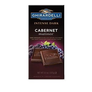 Ghirardelli Intense Dark Chocolate Cabernet Matinee Bar - 3.5 Oz.