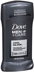 Dove Invisible Solid Cool Silver Men Plus Care - 2.7 oz.