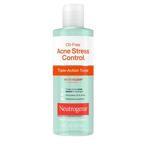 Neutrogena Oil Free Triple-Action Toner Acne Stress Control - 8 Fl. Oz.