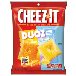 Cheez-It Snack Duoz Cheddar Jack and Baby Swiss - 4.3 Oz.