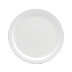 Buffalo Cream White Plate Narrow Rim - 6.5 in.