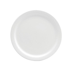 Buffalo Cream White Plate Narrow Rim - 9.5 in.