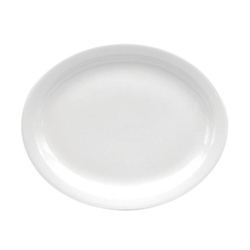 Buffalo Cream White Platter Narrow Rim - 9.5 in.