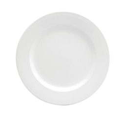 Buffalo Cream White Plate Rolled Edge - 9.53 in.