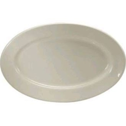 Buffalo Cream White Platter Rolled Edge - 9.38 in.