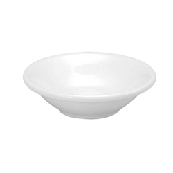 Buffalo Cream White Dish Fruit Rolled Edge - 3.75 Oz.