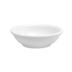 Buffalo Cream White Dish Fruit Rolled Edge - 7.5 Oz.