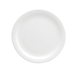 Buffalo Bright White Narrow Rim Plate - 6.38 in.