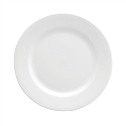 Buffalo Bright White Rolled Edge Plate - 7.13 in.