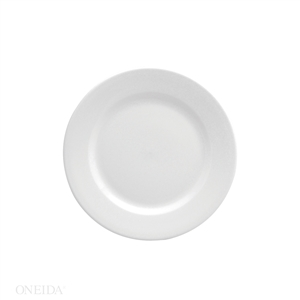 Buffalo Bright White Rolled Edge Plate - 9 in.