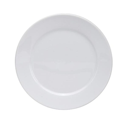 Buffalo Bright White Rolled Edge Plate - 10.25 in.