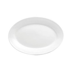Buffalo Bright White Rolled Edge Platter - 11.75 in.