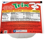 Cereal Bowl Pak Trix 25 Percent Less Sugar - 1 Oz.