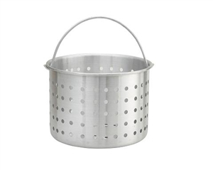 Aluminum Steamer Basket Stock Pot - 32 Qt.