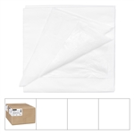 White Folded Table Cover 2 Ply Tissue/1 Ply Poly - 54 in. x 108 in.