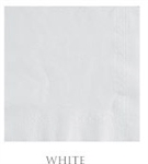 Plain 2 Ply Beverage White Napkins - 10 in. x 10 in.