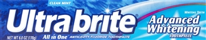 Ultra Brite Regular Toothpaste - 6 Oz.