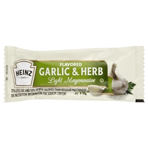 Mayonnaise Light Garlic Herb Flavored - 12 Grm.