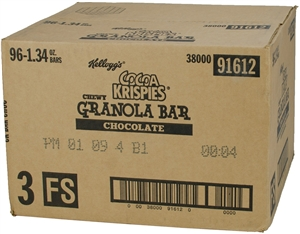 Cocoa Krispies Cereal Bar Chocolate Chewy - 1.34 Oz.
