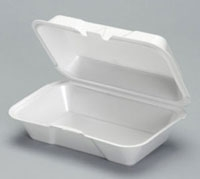 Foam Large Hoagie Container White